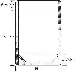 ラミジップ アルミ スタンド 0.154×300×420+60