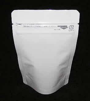 白色ラミジップ アルミ スタンド 0.114×90×115+28
