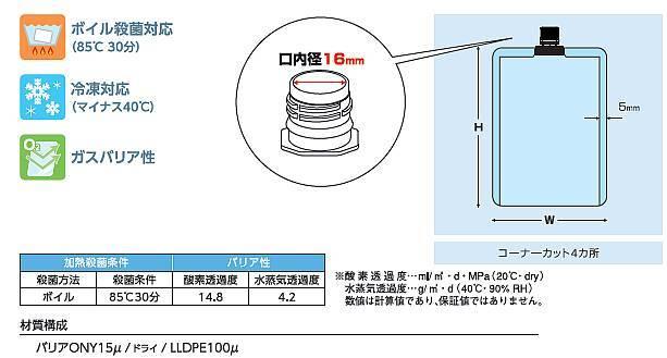 透明16口径キャップ袋100ml(底開き)100×160 500枚