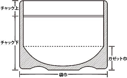ラミジップ巾広チャックスタンド0.115×120×100+35