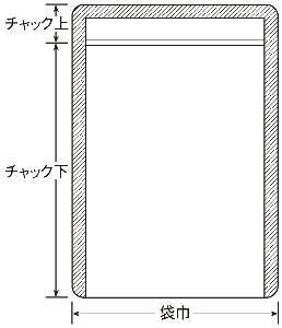ラミグリップLPチャック袋 0.067×100×140