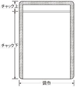 チャック付片面雲流袋0.075×240×340+27 1,000枚