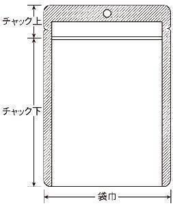 チャック付表透明裏アルミ平 100×145 3,000枚