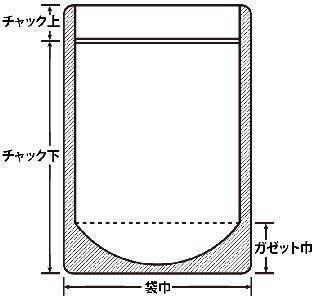 チャック付表透明裏アルミ 160×230+47 1,000枚